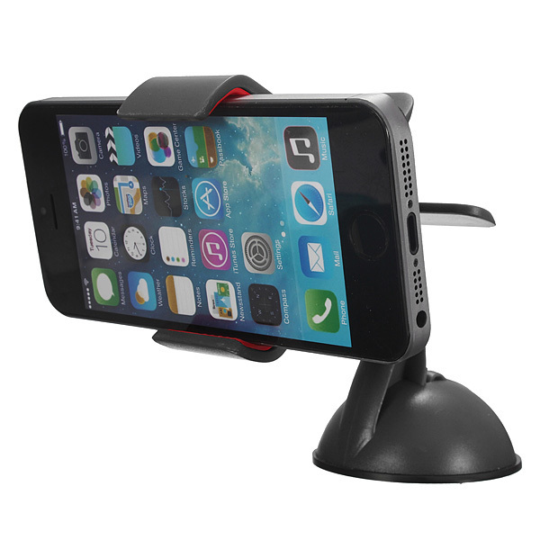 Car Windshield Mount Stand Holder for iPhone5 5S 5C S3 S4 Phone GPS Black (Intl)