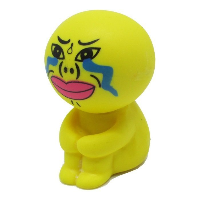 Cartoon Sucker Stand Style Holder for Smartphone - Kuning