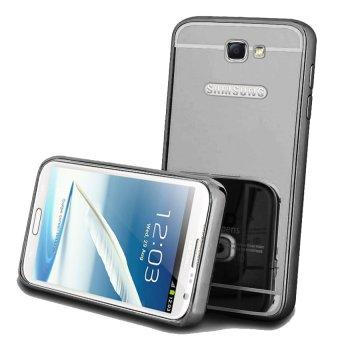 Case Bumper Chrome with Backcase Mirror untuk Samsung Galaxy Note 2 - Black