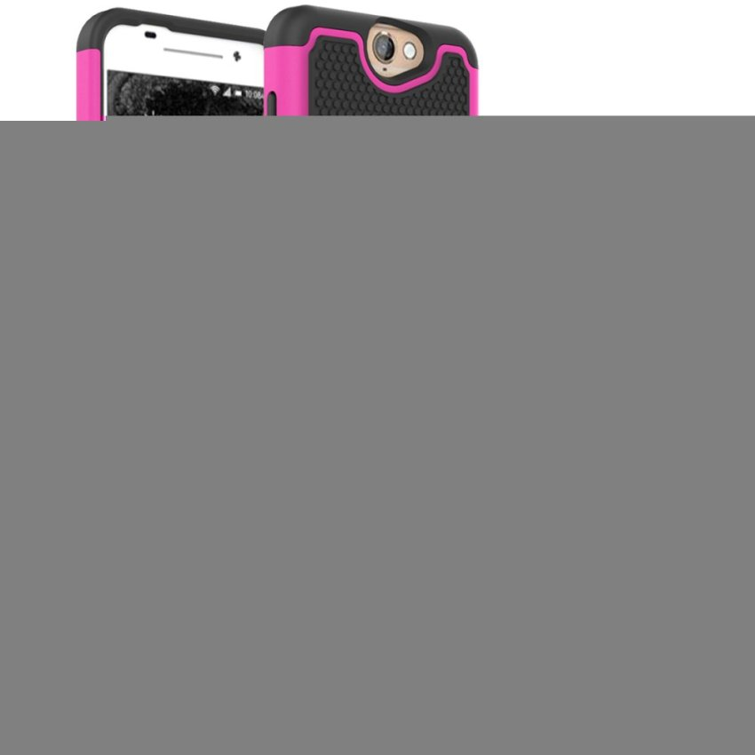 Case for HTC One A9 Tire Design Combo Snap On Phone Back Case Cover - Hot Pink (Intl)