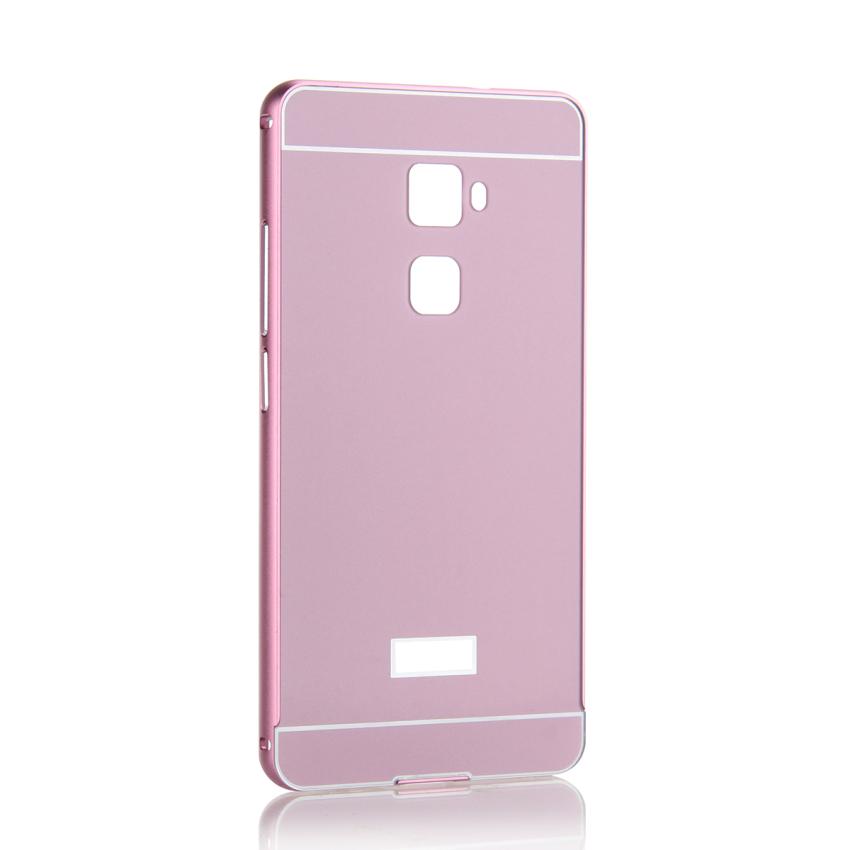 Case for Huawei Mate S Aluminum Metal Frame Bumper Case + PC Back Cover Protector - Violet (Intl)