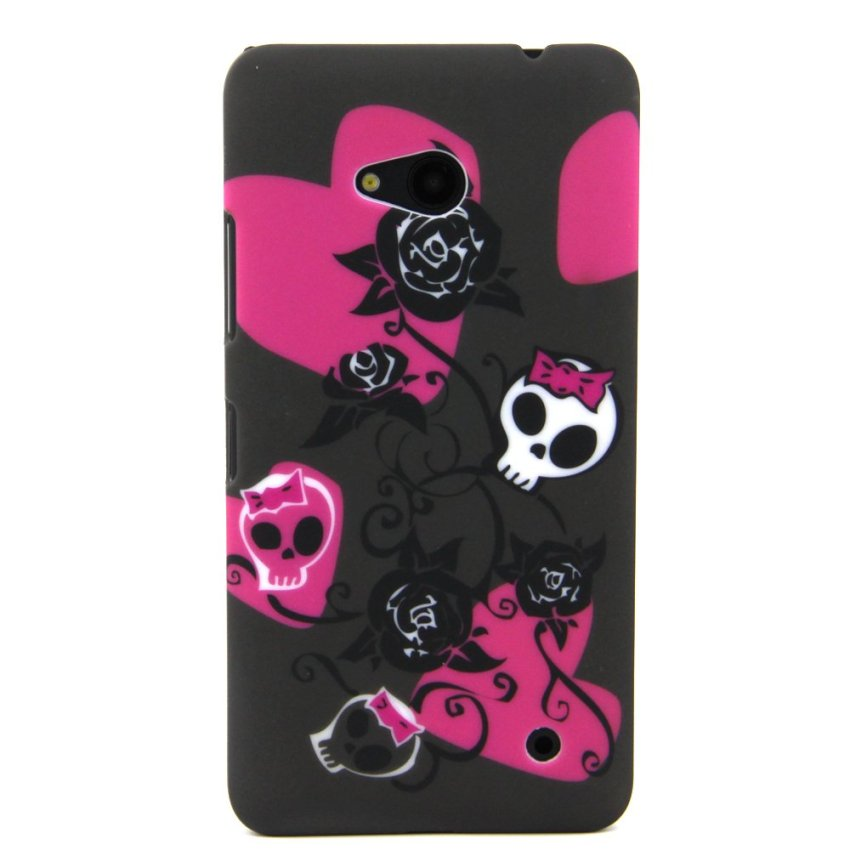 Case for Microsoft Lumia 640 Hard PC Snap-On Back Case Cover - Rose Skull (Intl)