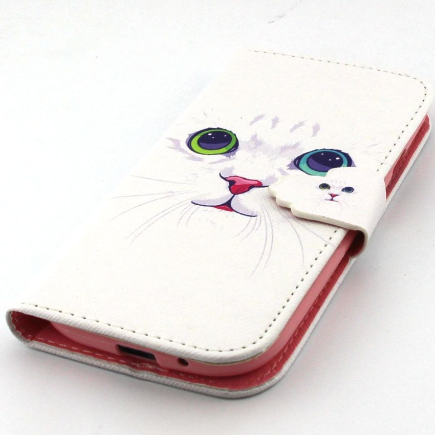 Case for Samsung Galaxy S3 i9300 PU Leather Case Flip Stand Cover - Cat (Intl)