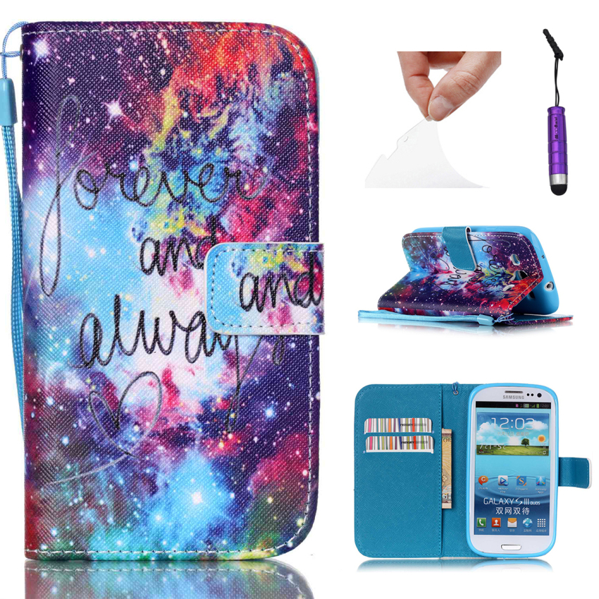 Case for Samsung Galaxy S3 i9300 PU Leather Flip Stand Case Cover Wallet - Outer Space Nebula (Intl)