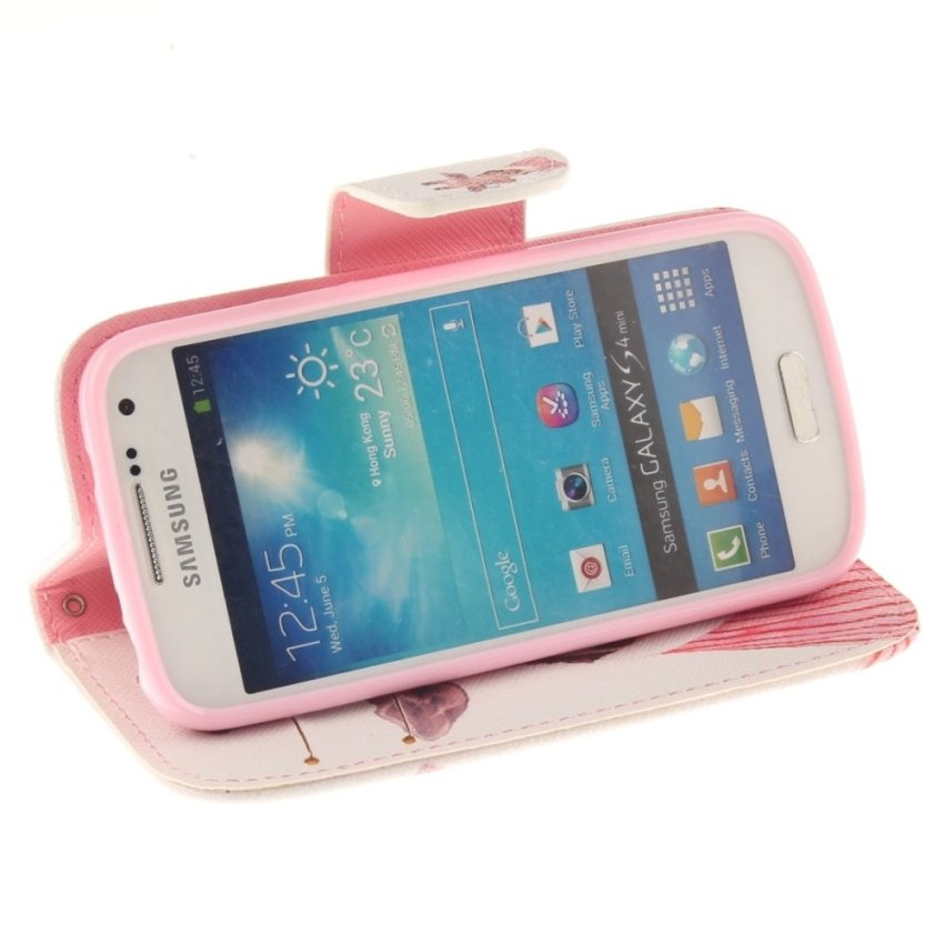Case for Samsung Galaxy S4 Mini i9190 PU Leather Case Flip Stand Cover - Giraffe (Intl)