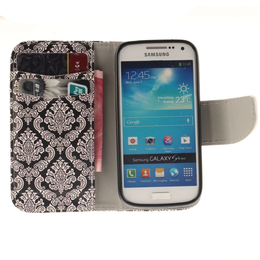 Case for Samsung Galaxy S4 Mini i9190 PU Leather Case Flip Stand Cover - Totem Flower (Intl)