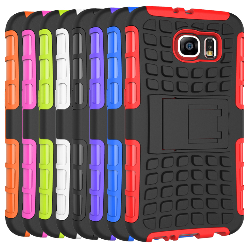 Case for Samsung Galaxy S6 G9200 Tire Design High Impact Rugged Shockproof Case with Kickstand - Red (Intl)