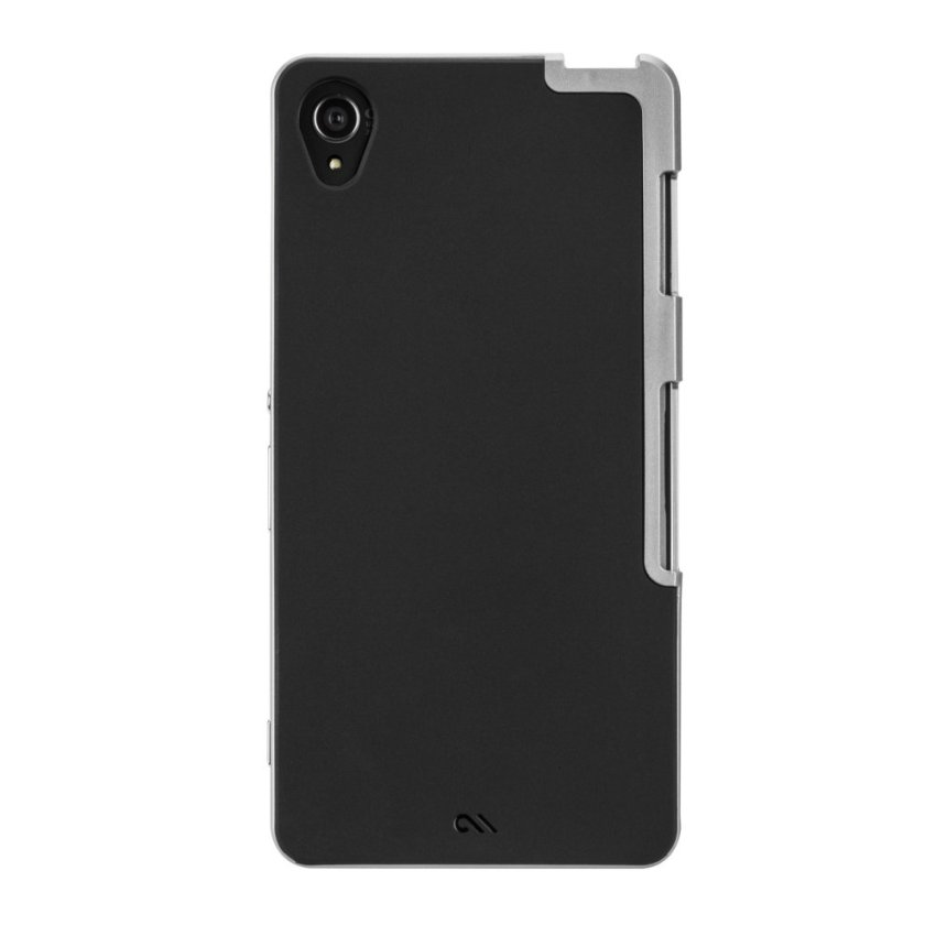 Case-Mate Xperia Z3 Slim Tough Black - Hitam-Silver