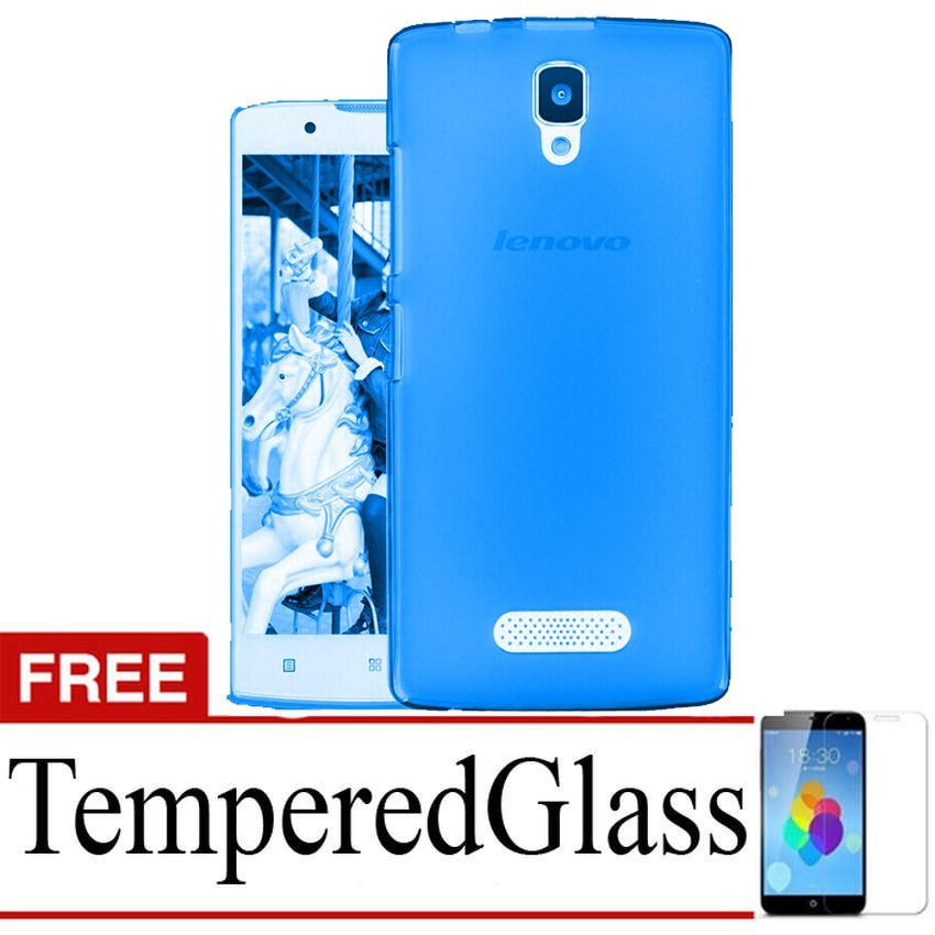 Case Ultrathin for Lenovo A2010-Biru Clear + Gratis Tempered Glass