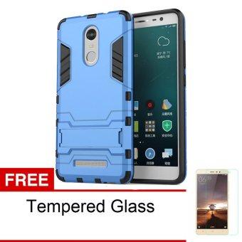 Case Xiaomi Redmi Note 3 Pro Kickstand Series - Blue + Free Tempered Glass