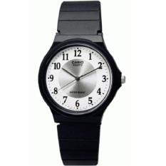 Casio Analog Watch Jam Tangan Unisex - Hitam - Strap Karet - MQ24-7B3LDF