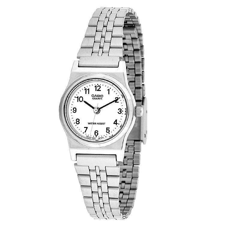 Casio Analog Watch - Jam Tangan Wanita - Silver - Strap Stainless Steel - LQ -