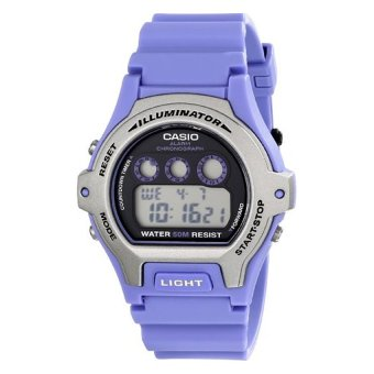 Casio Women's LW-202H-6AVCF Illuminator Stainless Steel Watch With Blue Band (Intl)