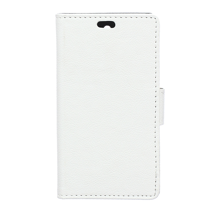 Cass Leather Flip Case With Card Slot for Huawei Ascend G8 (White) (Intl)