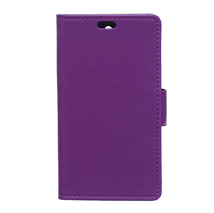 Cass Leather Flip Case With Card Slot for Huawei Ascend Y635 (Purple) (Intl)