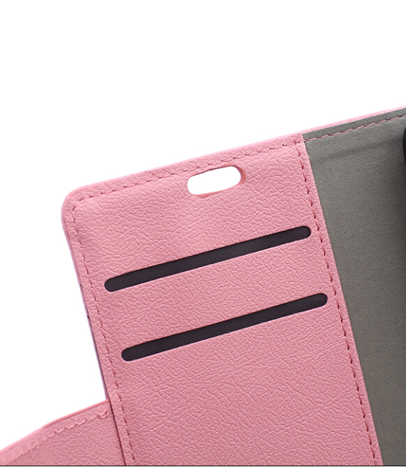 Cass Leather Flip Case With Card Slot for Huawei Mate S (Pink) (Intl)