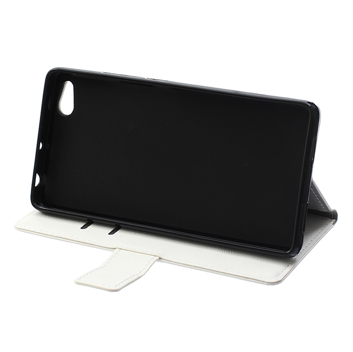 Cass Leather Flip Case With Card Slot For ZTE Nubia Z9 Max White Color (Intl)