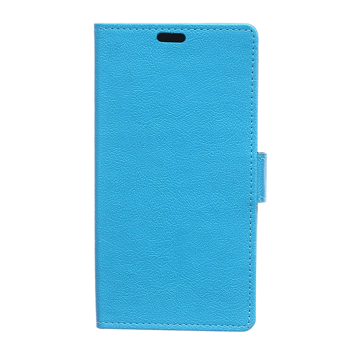 Cass Leather Flip Cover with Card Slot for Sony Xperia Z4 Compact (Blue) (Intl)