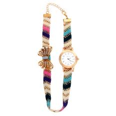 Casual Style Fabric Bracelet Wristwatch Women Fashion Luxury Watch NO.1 (Intl)