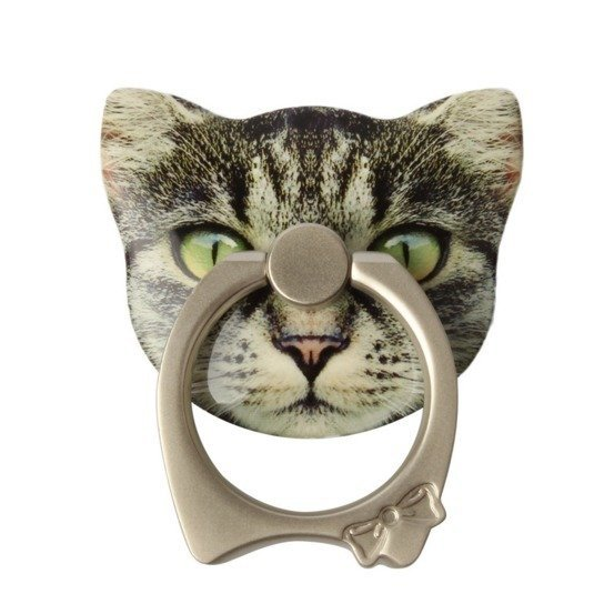 Cat Universal 360°Finger Ring Car Mount Bracket Ring Grip Stand Holder for iPhone Mobile Phone Any Smart Device  (Intl)