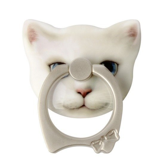 Cat Universal 360°Finger Ring Car Mount Bracket Ring Grip/Stand Holder for iPhone Mobile Phone Any Smart Device (Intl)