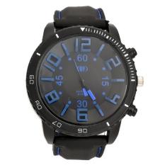 CatWalk Men's 3D Word Stainless Steel Wrist Watch (Blue) (Intl)