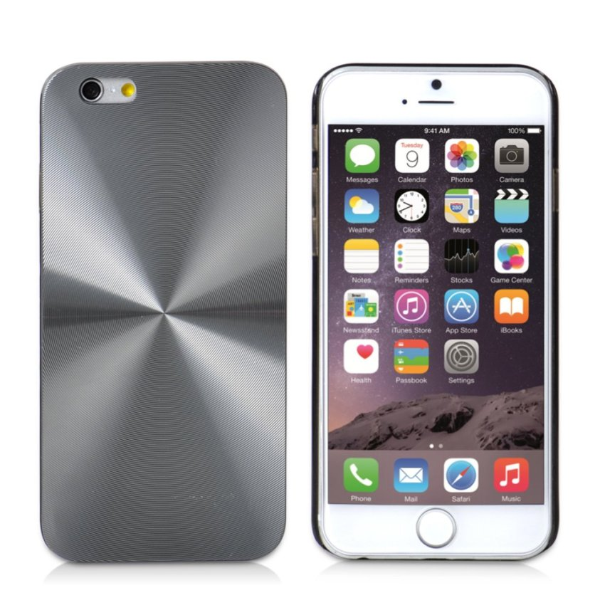 CD Line Patten Hard Slim Case Cover for iPhone 6/6S 6s (Grey) (Intl)
