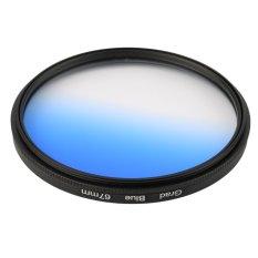 CHEER Universal 67mm Filters Circo Mirror Lens Gradient UV For DSLR Camera Lens Blue