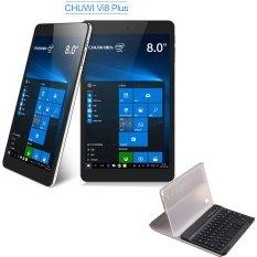 Chuwi Vi8 Plus 8 inch Windows 10 Tablet PC Intel 1.84GHz WXGA IPS Screen 2GB RAM 32GB ROM with Keyboard and Leather Case(Black) - Intl