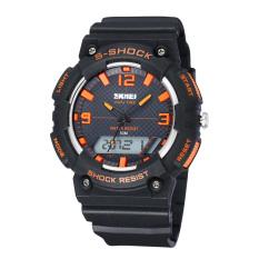 CITOLE 50M Waterproof SKMEI Men LED Digital Military Watch Dive Swim Dress Sports Watches Fashion Outdoor Men Wristwatches Men Clock (Black) (Intl)