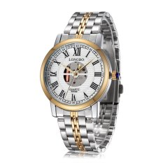 CITOLE Long Wave Longbo Authentic Brand Hollow Roman Numerals Diamond Dial Men's Watch (Intl)