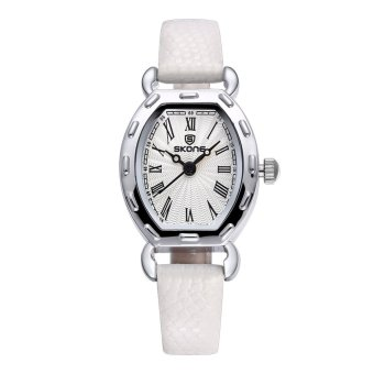 CITOLE SKONE 2016 Thin PU Leather Strap Rose Gold Watches Women Analog Quartz Mvmt Watch Woman Fashion Casual Ladies Relogio Feminino (Blue)
