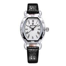CITOLE SKONE 2016 Thin PU Leather Strap Rose Gold Watches Women Analog Quartz Mvmt Watch Woman Fashion Casual Ladies Relogio Feminino (Brown)