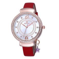 CITOLE SKONE Hot Sale Watches Relogios Femininos Brand Quartz PU Band Women Casual Rhinestone Dress Wristwatch Gig Dial Clock Mujer (Brown) (Intl)