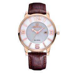 CITOLE SKONE Newest Luxxury Solar Energy Date Watch Women Montre Femme Charge Leather Casual Quartz Watch Bracelet Wristwatch Montre