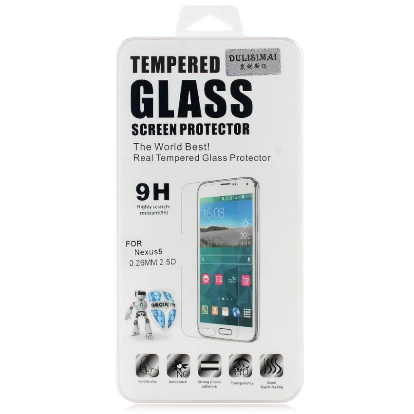 Clear Crack Resistant Tempered Glass Screen Protector for Google Nexus 5 (Clear) (Intl)