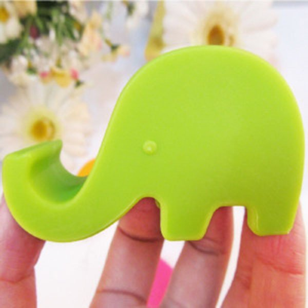 Clothingloves Cute Elephant Cell Phone Holder (Green)