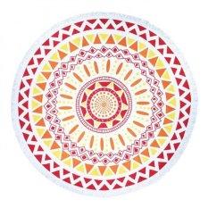 Coconie Round Hippie Tapestry Beach Throw Roundie Mandala Towel Yoga Mat Bohemian Feature (Yellow) - Intl