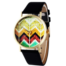Colored Wave Pattern Fashion Ladies Watches (Intl)