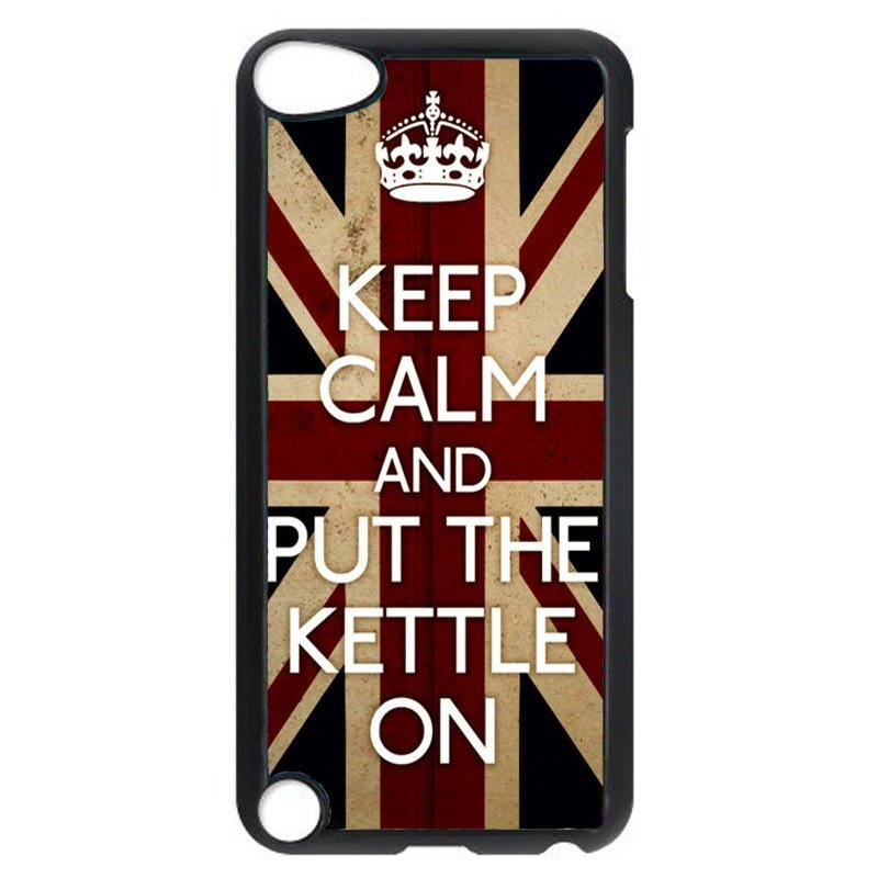 Cool British Flag Keep Calm Pattern Phone Case for iPod Touch 4 (Black)