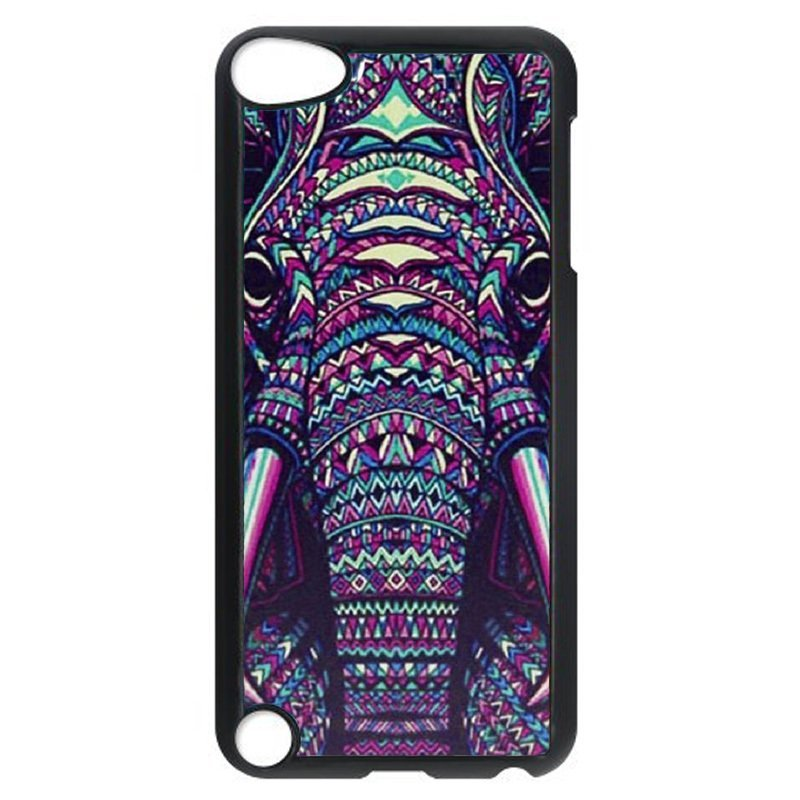 Cool Elephant Painting Phone Case for iPod Touch 4 (Black)