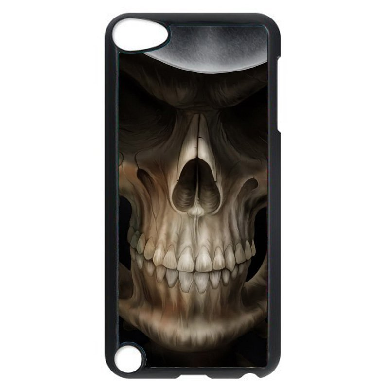 Cool Skull Head Pattern Phone Case for iPod Touch 4 (Black)