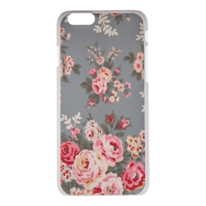 "Country Side Style Flower Gray Back Skin Case for Apple Iphone 6 Plus 5.5"" (Multicolor) (Intl)"