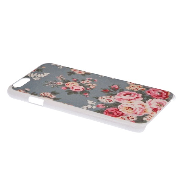 Country Side Style Flower Gray Back Skin Case for Apple Iphone 6 Plus 5.5