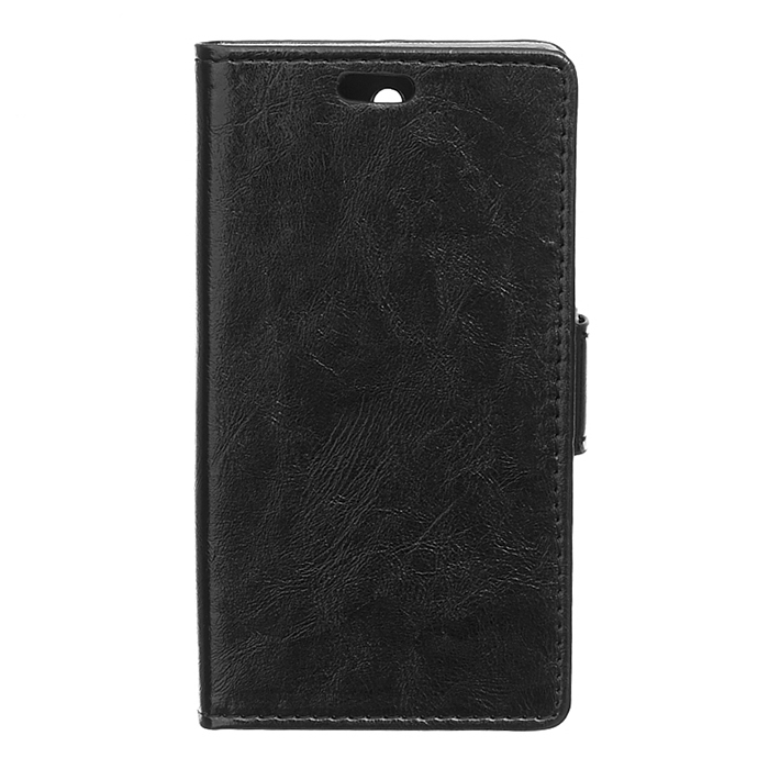 Crazy-Horse Leather Flip Cover for Huawei Honor 7 (Black) (Intl)