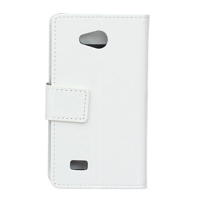 Crazy-Horse Leather Flip Cover With Card Slot For LG Joy H220N (White) (Intl)