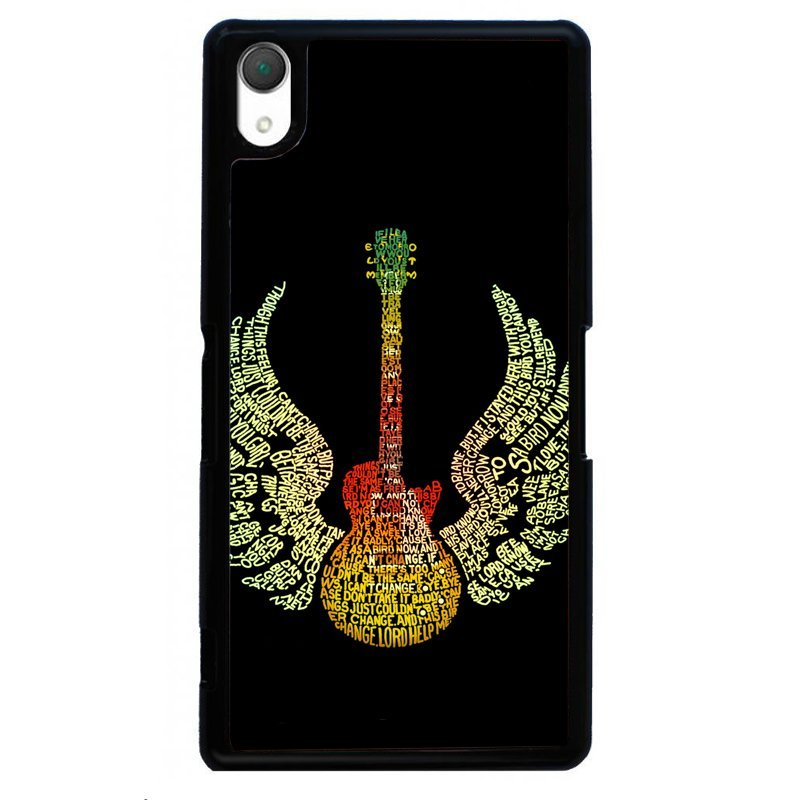 Creative Flying Guitar Painting Phone Cover For Sony Xperia Z4 (Black)