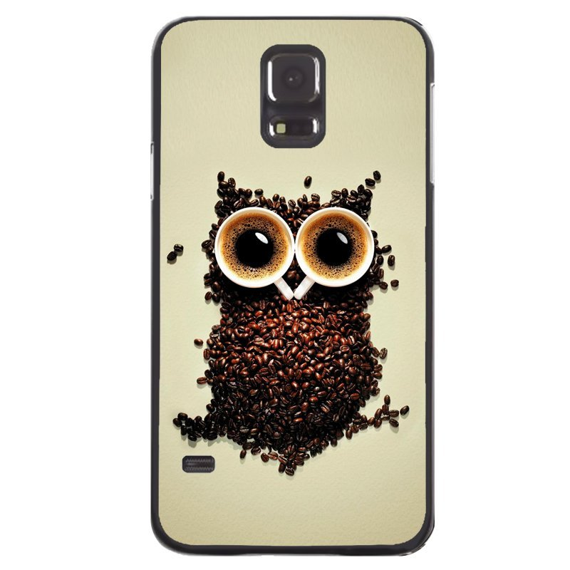 Creative Owl Painting Phone Cover For Samsung Galaxy S5 (Black)