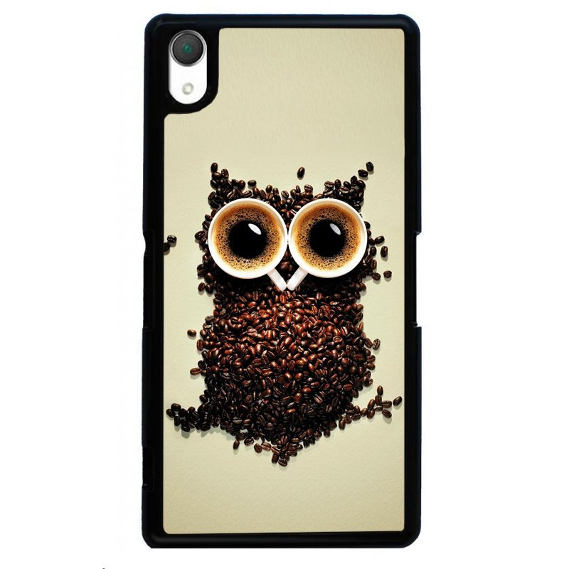 Creative Owl Painting Phone Cover For Sony Xperia Z4 (Black)