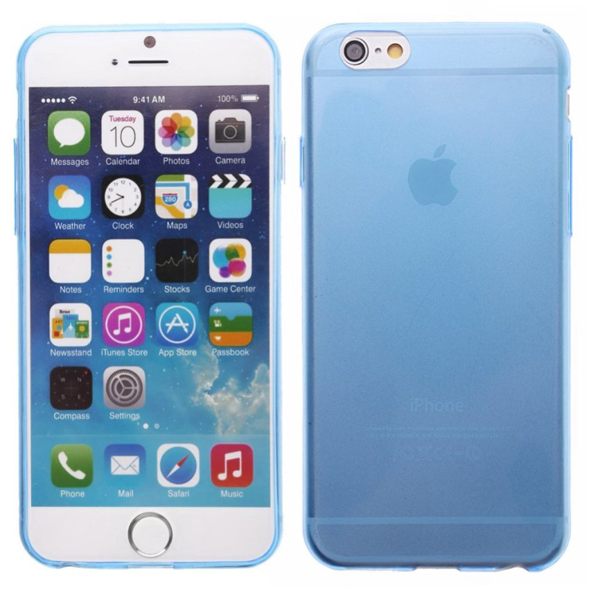 Crystal Soft Back Case for iPhone 6 (Blue)